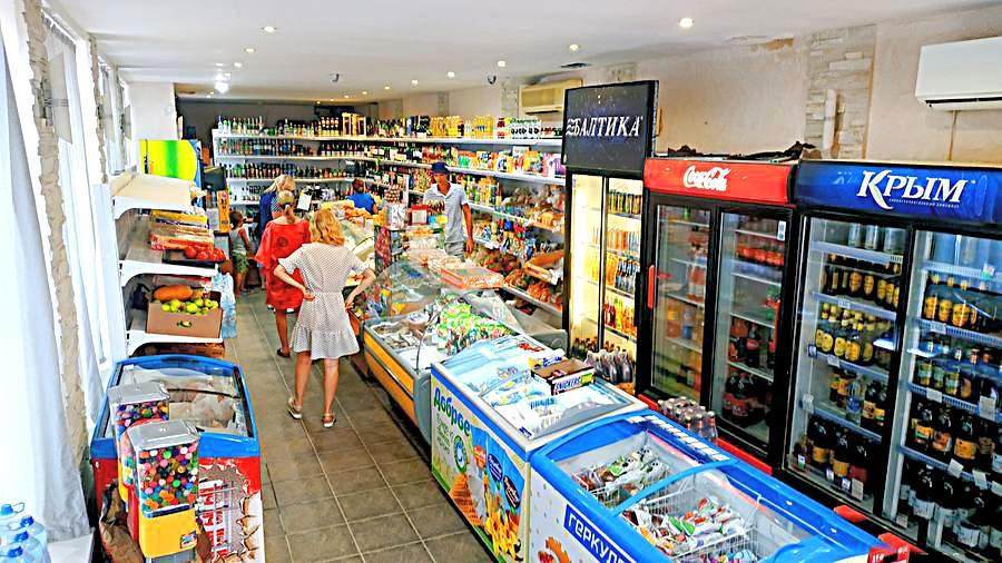 Магазин продуктов в Судаке